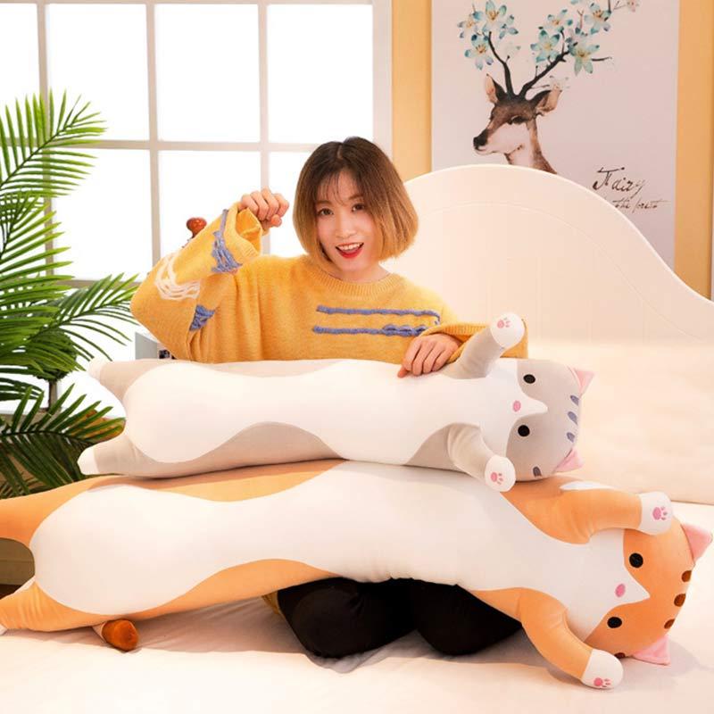 Cute Cat Shaped Plush Pillows
