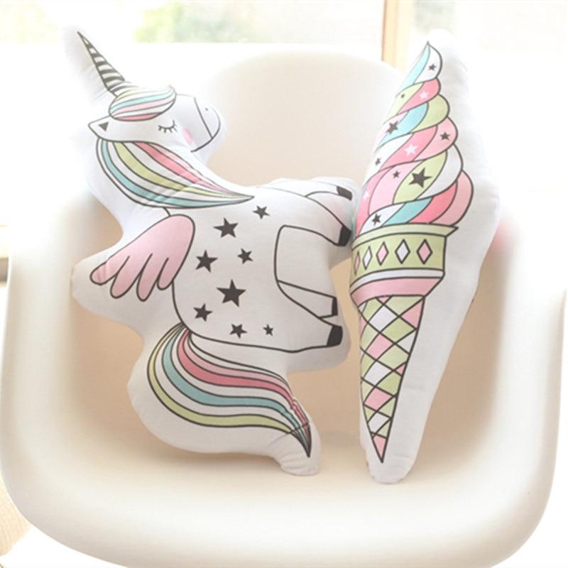 Cute Unicorn Shaped Plush Pillows